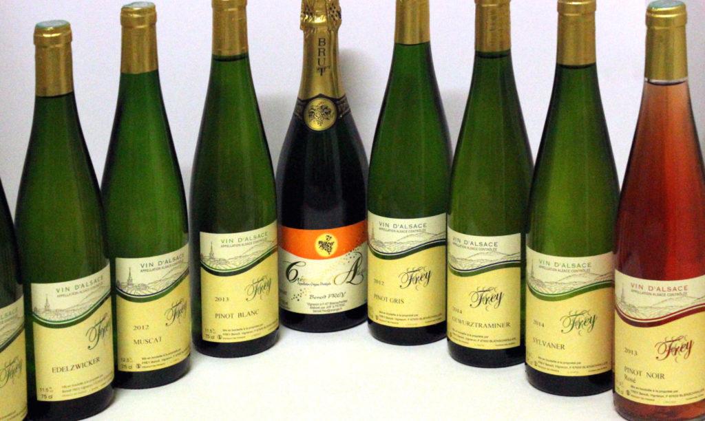 bouteilles Frey en arc de cercle